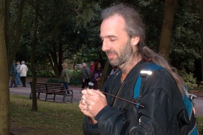 Aranya dowsing at the Bournemouth workshop 2005