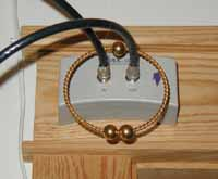 Ring around coaxial cable